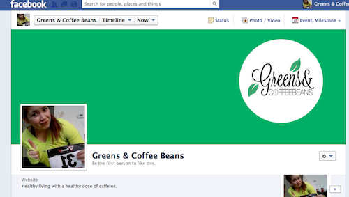 Greens and Coffee Beans facebook page