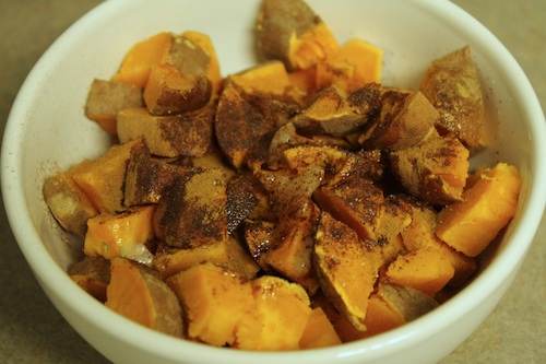 sweet potatoes and coconut oil
