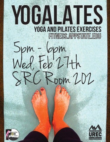 yogalates promotional poster
