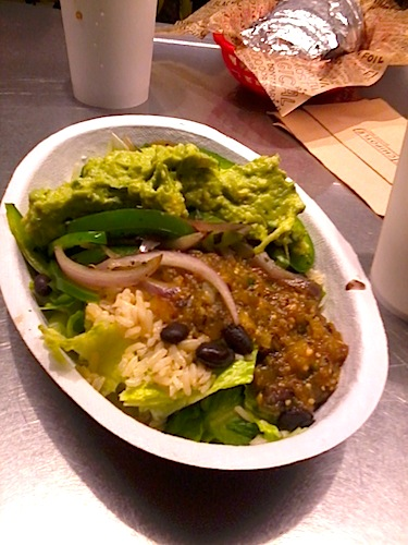 chipotle vegetarian salad