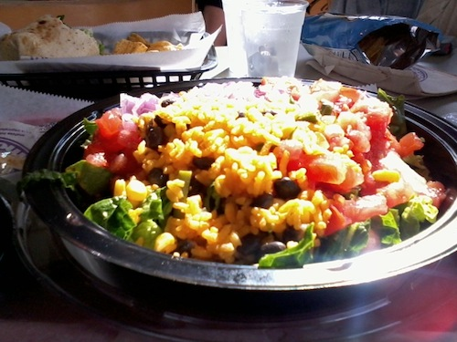 tropical smoothie cafe southwest salad no chicken