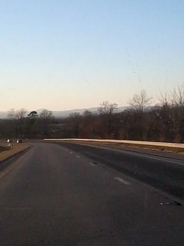 US 421 NC mountains sunset