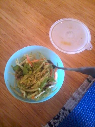 avocado broccoli slaw salad