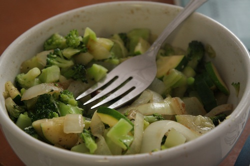 broccoli zucchini and onions