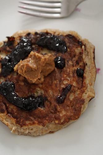 gluten free peanut butter coconut pancakes