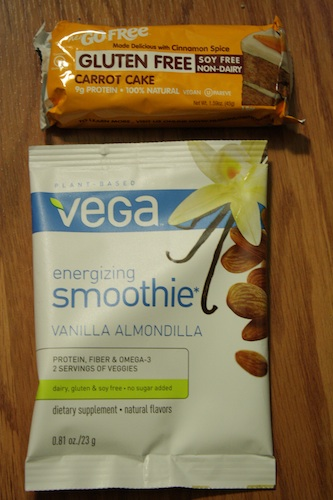 go free carrot cake bar vanilla almond vega smoothie
