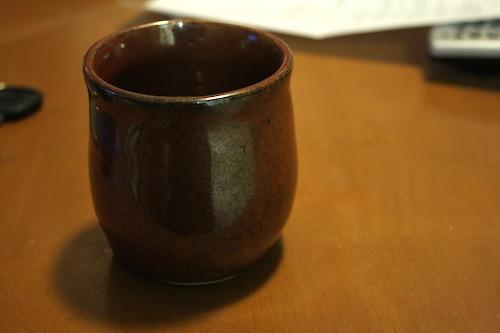 handmade clay cup