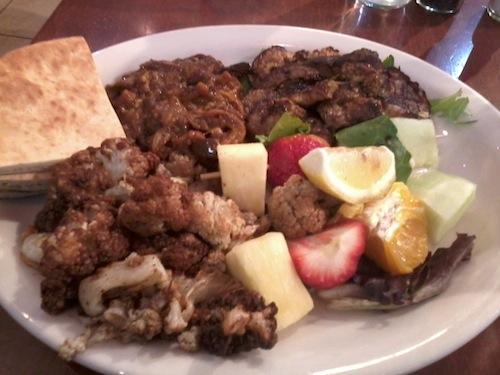 mediterranean deli vegetarian platter