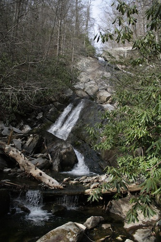 glen burney trail waterfall blowing rock nc